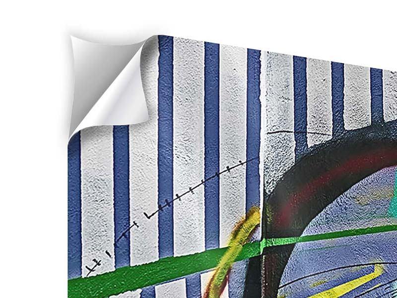 Klebeposter 3-teilig modern Künstlerisches Graffiti