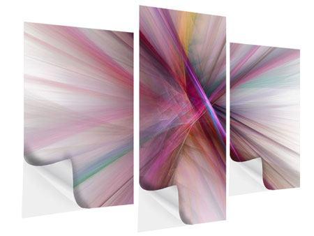 Klebeposter 3-teilig modern Abstraktes Lichterleuchten