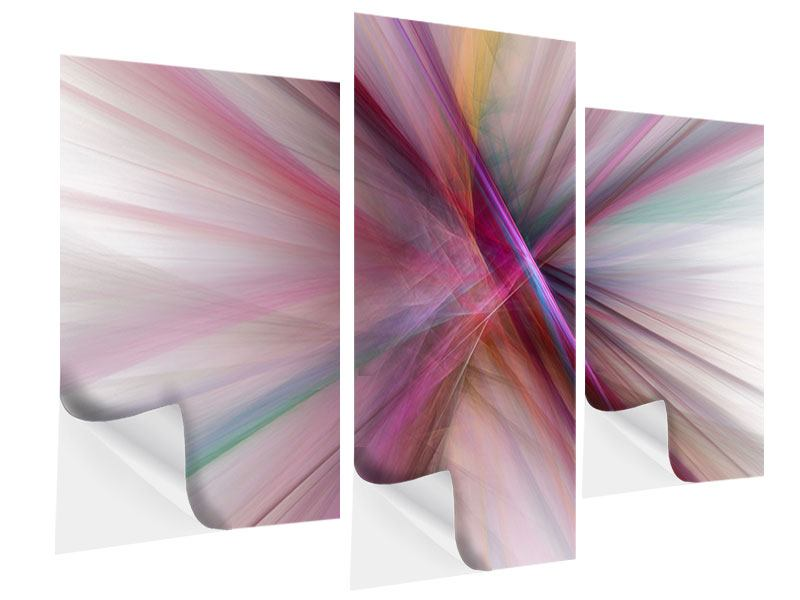 Modern 3 Piece Self-Adhesive Poster Abstract Lights Shine