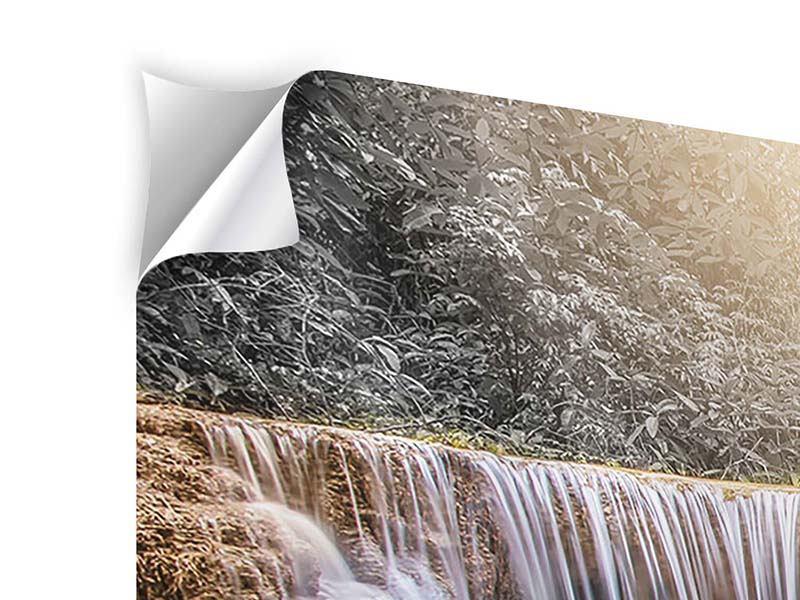 Klebeposter 3-teilig modern Glücklicher Wasserfall