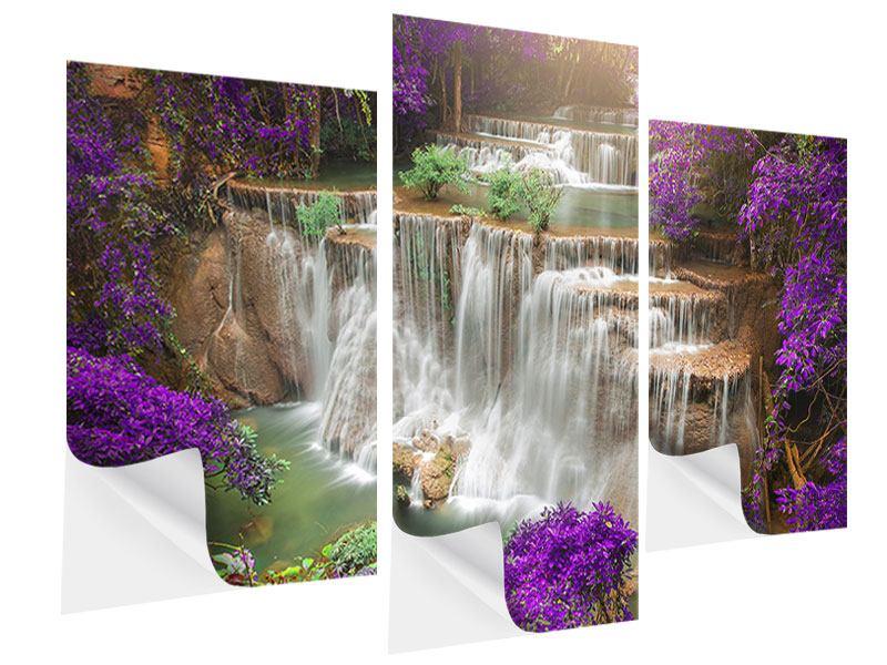 Klebeposter 3-teilig modern Garten Eden