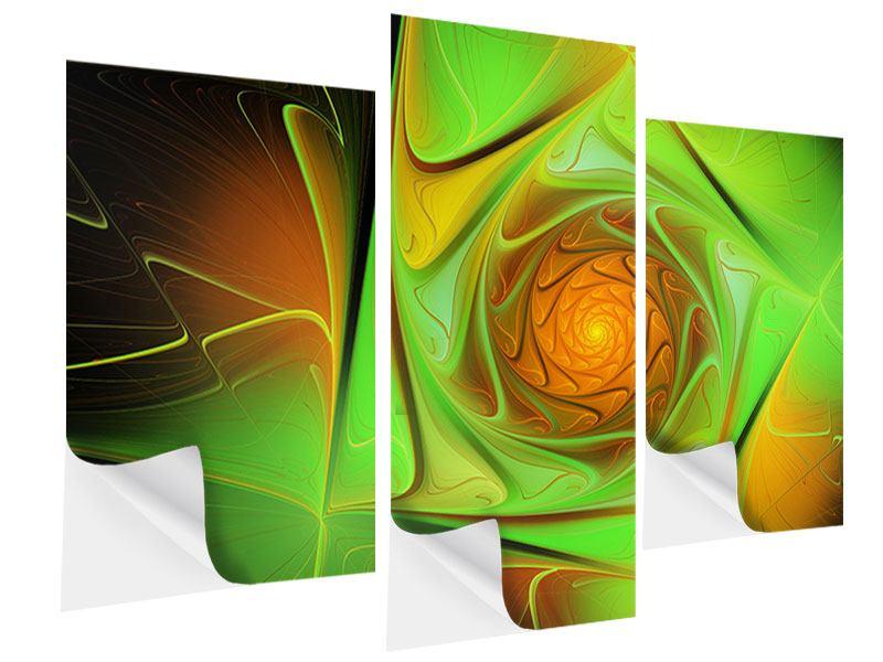 Klebeposter 3-teilig modern Abstraktionen