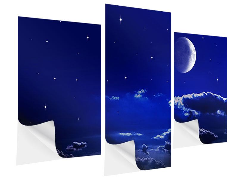 Klebeposter 3-teilig modern Der Nachthimmel