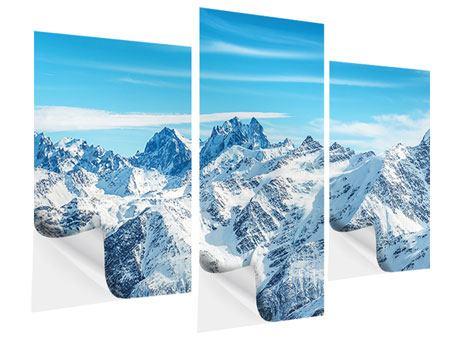 Klebeposter 3-teilig modern Alpenpanorama