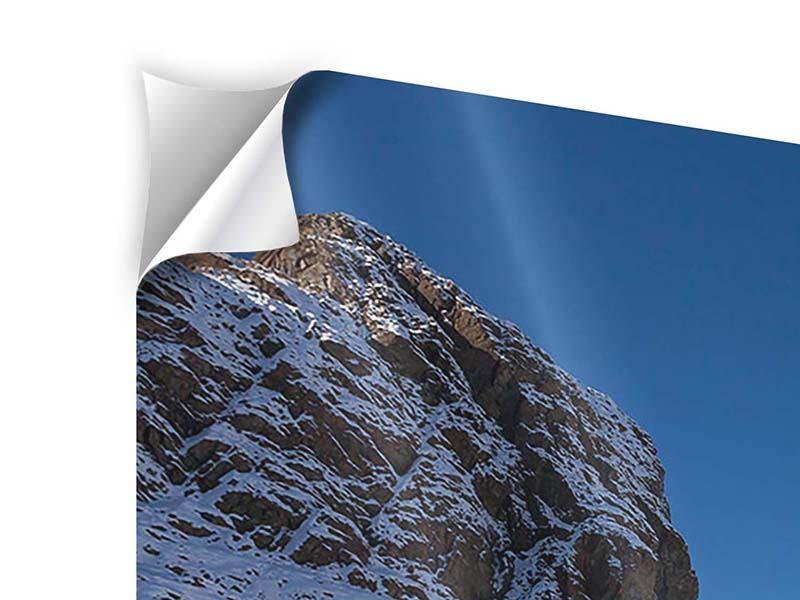 Klebeposter 3-teilig modern Der Riffelsee am Matterhorn