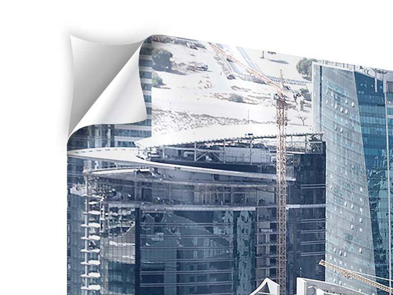 Klebeposter 3-teilig modern Die Wolkenkratzer von Dubai