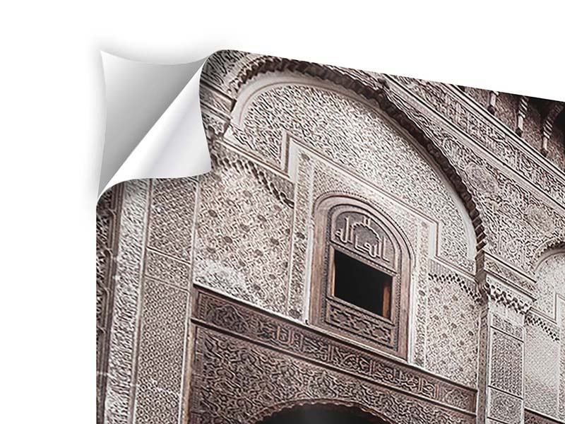 Klebeposter 3-teilig modern Orientalischer Hinterhof
