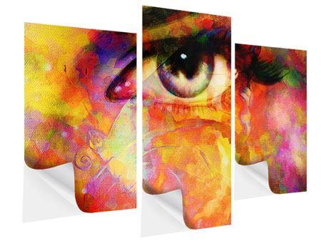 Klebeposter 3-teilig modern Das Auge