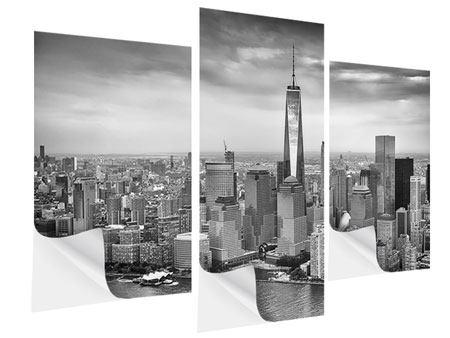 Klebeposter 3-teilig modern Skyline Schwarzweissfotografie New York