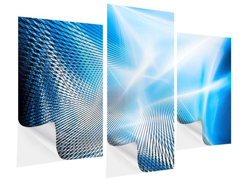 Klebeposter 3-teilig modern Laser
