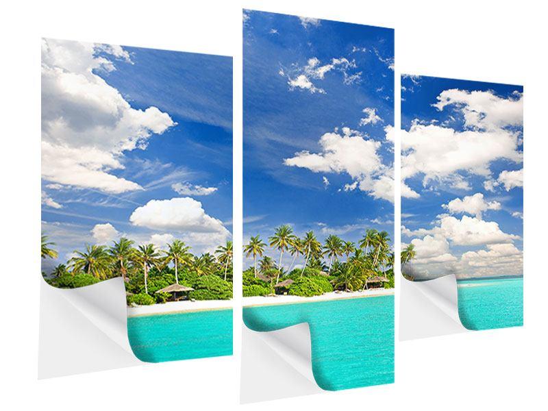 Klebeposter 3-teilig modern Meine Insel