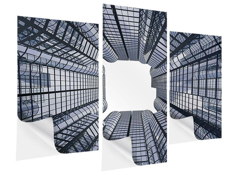 Klebeposter 3-teilig modern Besondere Perspektive