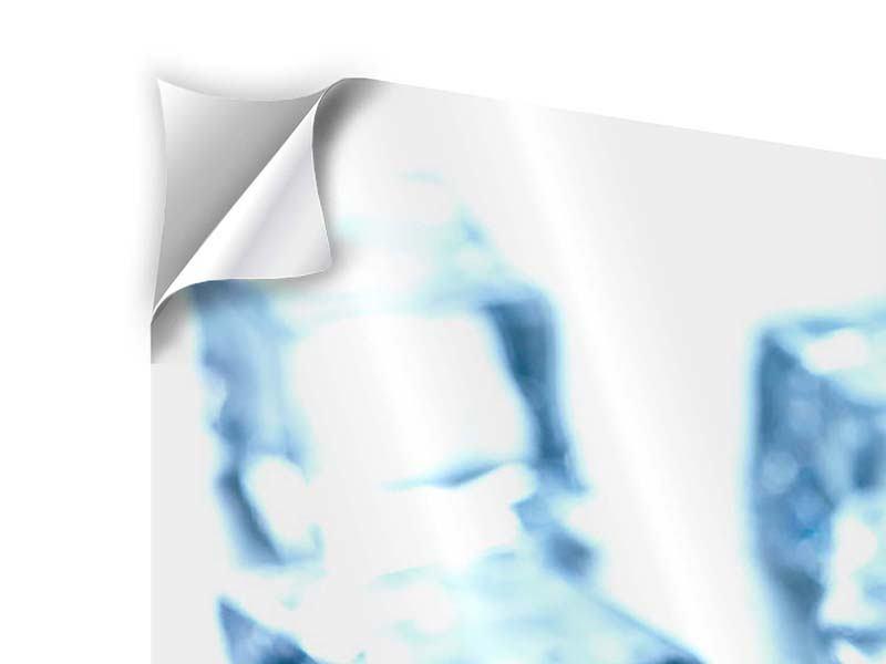 Klebeposter 3-teilig modern Viele Eiswürfel