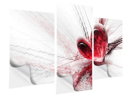 Klebeposter 3-teilig modern Herzspiegelung