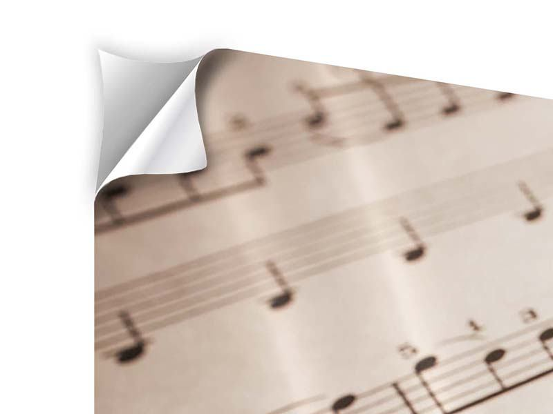 Klebeposter 3-teilig modern Das Notenblatt