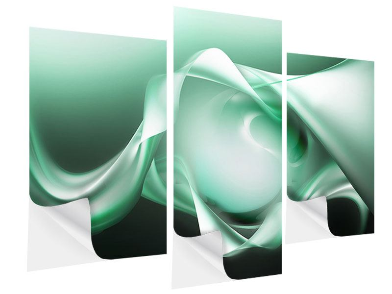 Klebeposter 3-teilig modern Abstrakt Tuchfühlung