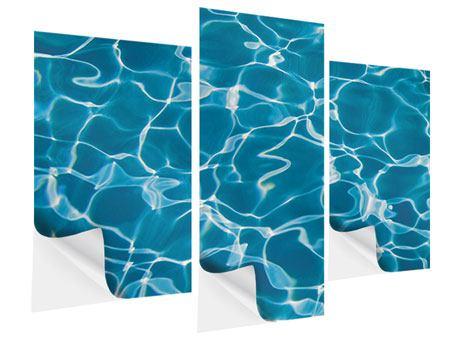 Klebeposter 3-teilig modern Pool