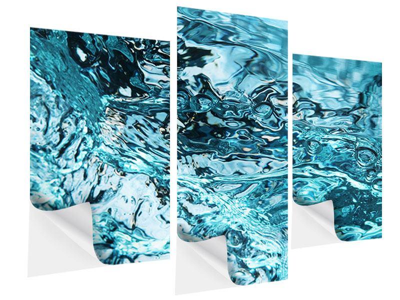 Klebeposter 3-teilig modern Schönheit Wasser