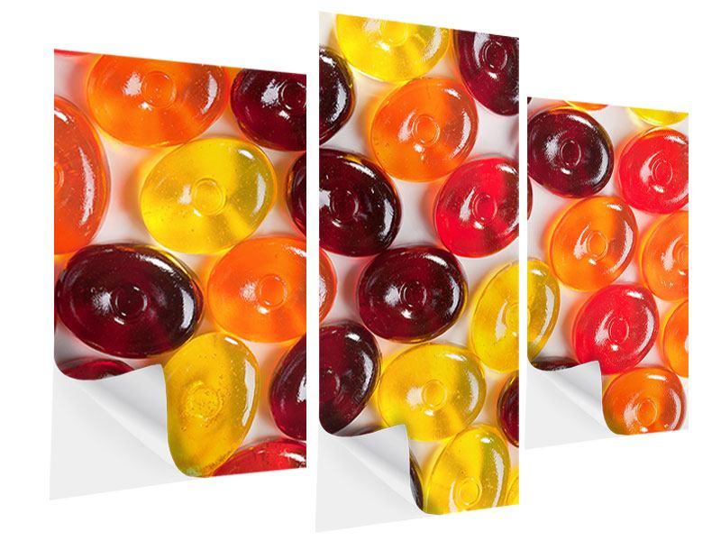 Klebeposter 3-teilig modern Bonbons