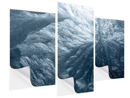 Klebeposter 3-teilig modern Eis