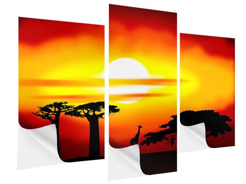 Klebeposter 3-teilig modern Faszination Afrika