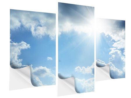 Klebeposter 3-teilig modern Himmelshoffnung