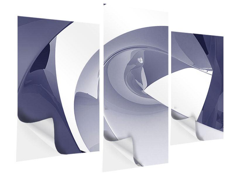 Klebeposter 3-teilig modern Abstrakte Schwingungen