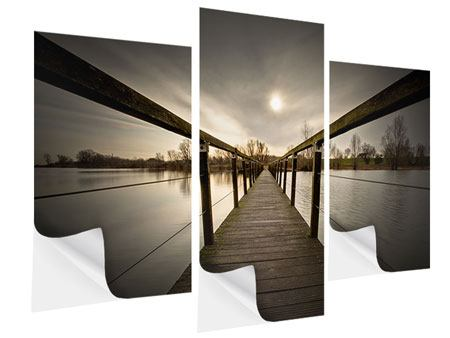 Klebeposter 3-teilig modern Die Holzbrücke