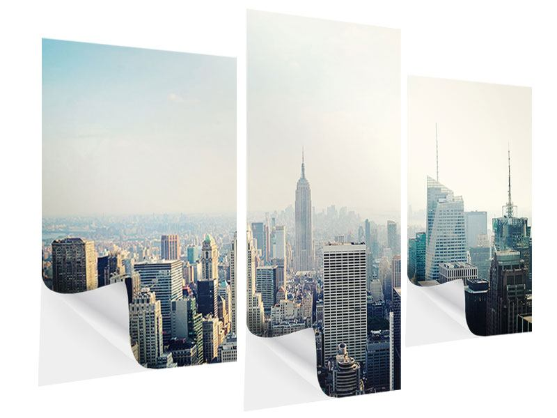 Klebeposter 3-teilig modern NYC