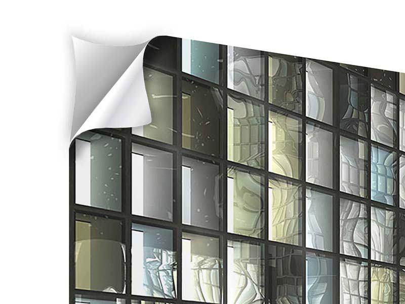 Klebeposter 3-teilig modern Windows