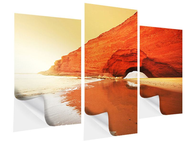 Klebeposter 3-teilig modern Wasserspiegelung