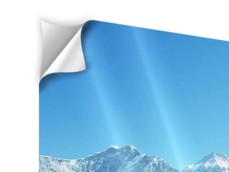 Klebeposter 3-teilig modern Das Himalaya-Gebirge