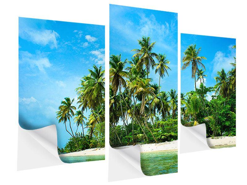 Klebeposter 3-teilig modern Reif für die Ferieninsel