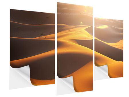 Klebeposter 3-teilig modern Wüstenwanderung