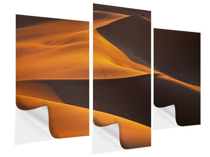 Klebeposter 3-teilig modern Wüstensand