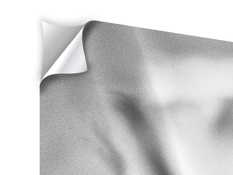 Klebeposter 3-teilig modern Makro Lilienblatt