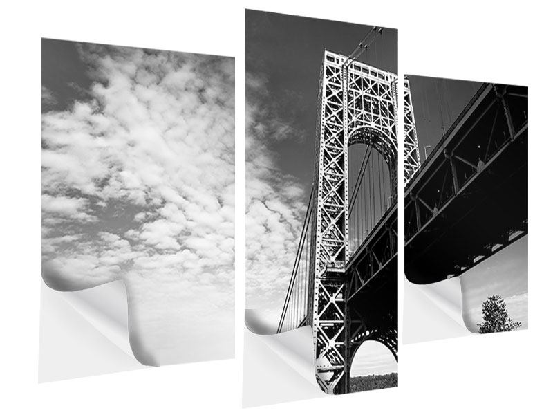 Klebeposter 3-teilig modern Georg-Washington-Bridge