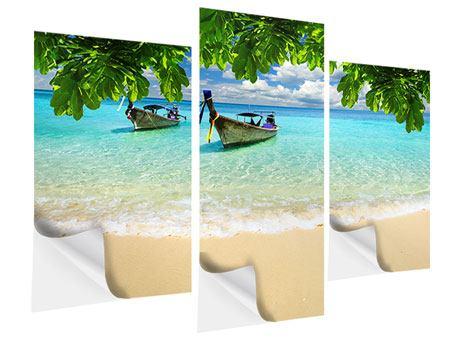 Klebeposter 3-teilig modern Ein Blick auf das Meer