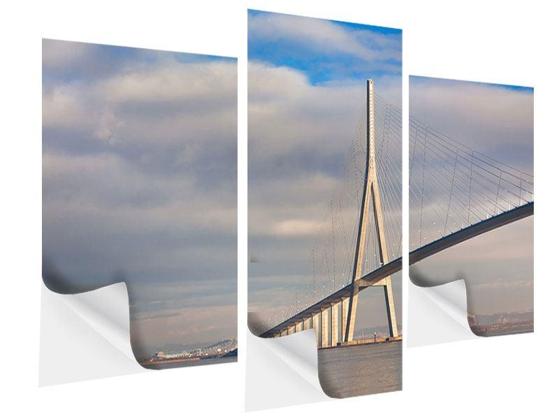 Klebeposter 3-teilig modern Pont de Normandie
