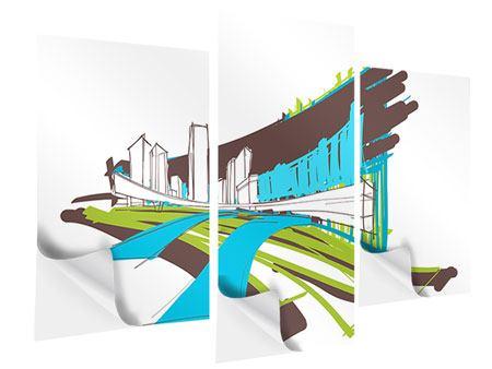 Klebeposter 3-teilig modern Graffiti Street-Art