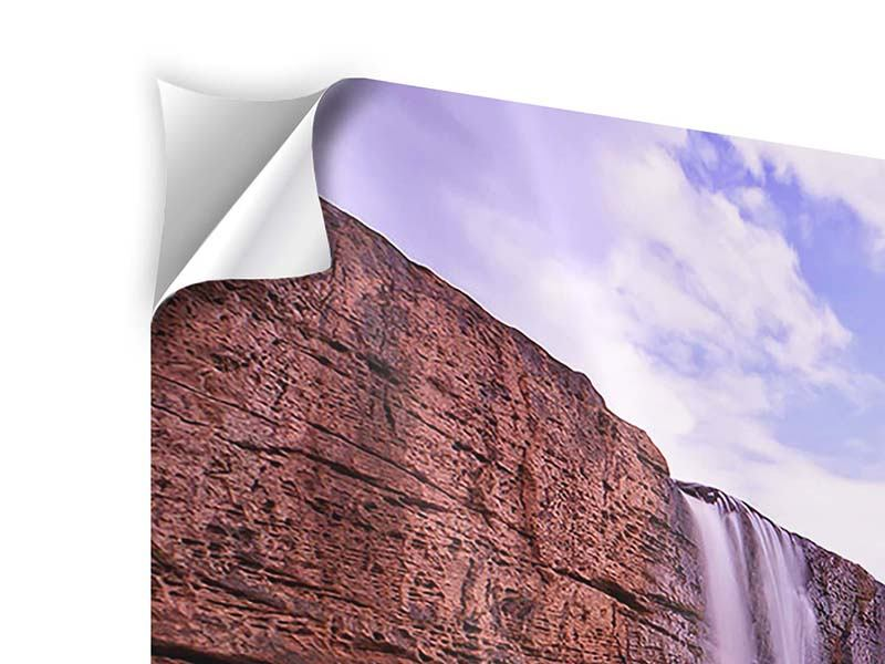 Klebeposter 3-teilig modern Himmlischer Wasserfall