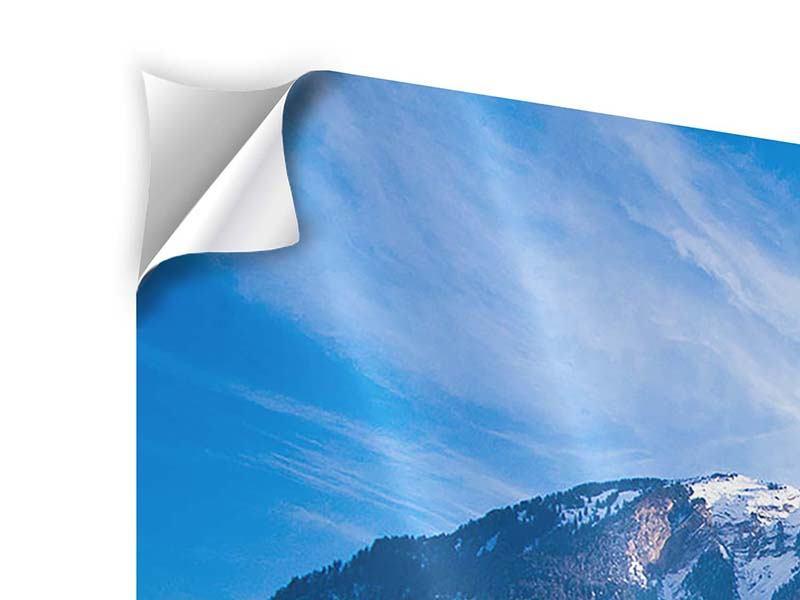 Klebeposter 3-teilig modern Winterwunderland