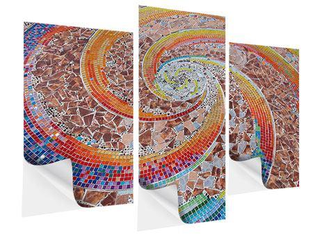 Klebeposter 3-teilig modern Mosaik