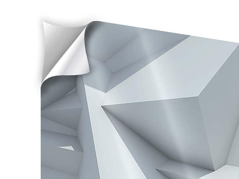 Klebeposter 3-teilig modern 3D-Kristallo