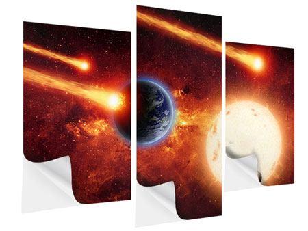 Klebeposter 3-teilig modern Der Kosmos