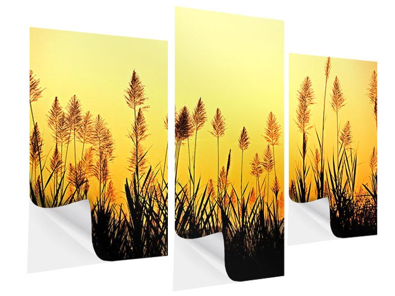 Klebeposter 3-teilig modern Die Blumen des Feldes