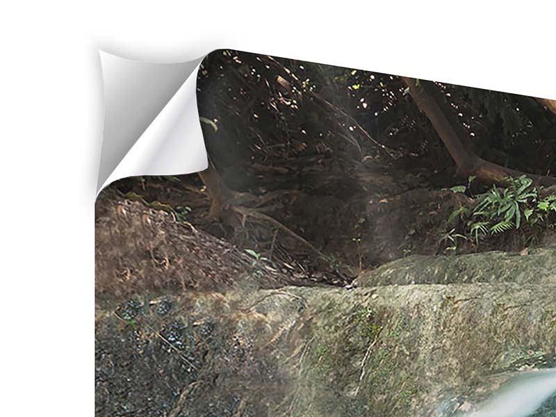 Klebeposter 3-teilig modern Am Fluss des Lebens
