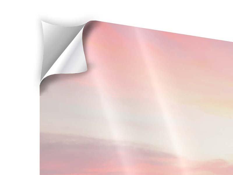 Klebeposter 3-teilig modern Der beruhigende Sonnenuntergang