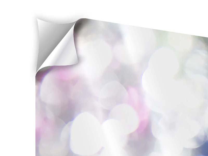 Klebeposter 3-teilig modern Abstraktes Licht