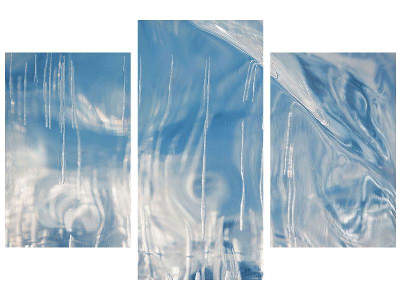 Klebeposter 3-teilig modern Das Eis des Baikalsees
